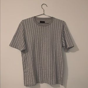 Zara Shirts - Men's Zara grey and white striped T shirt